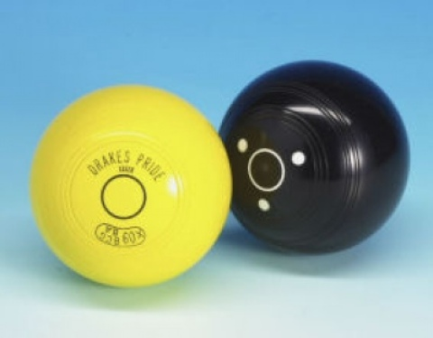 Drakes Pride Yellow Crown Green Bowls Jack