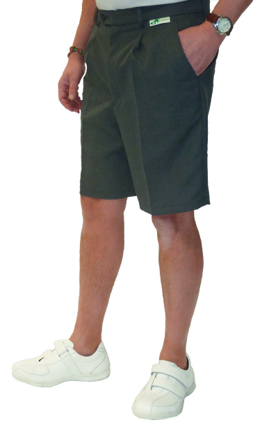 0a622c7e66 Mens Grey Bowling Shorts - Bowling Trousers Shorts Belts and Braces ...