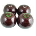Biassed Carpet Bowls Black or Brown