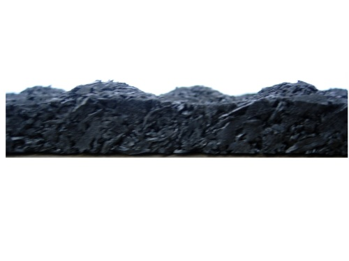 Profiled rubber ditch liner