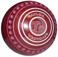 Taylor Maroon / Red Ace Coloured Bowls (Xtreme Grip illustrated)