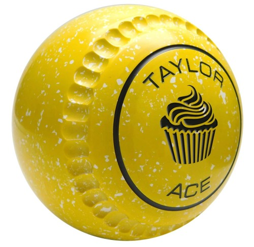 Taylor Yellow White Ace Coloured Bowls (Xtreme Grip illustrated)